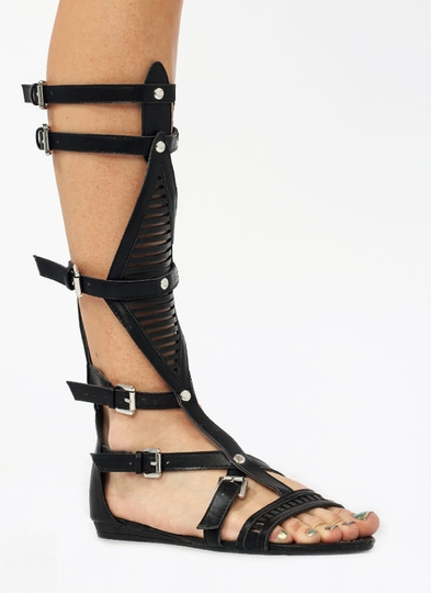 Slitting Pretty Gladiator Sandals