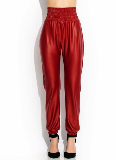 Smocked Coated Joggers