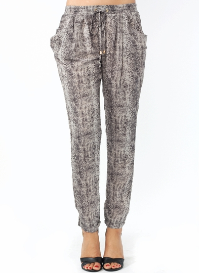 Snake Around Drawstring Lounge Pants