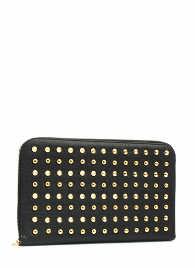 Snake Around Town Studded Clutch