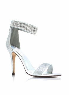 So Glitzed Metallic Heels