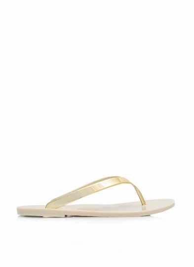 So Jelly Metallic Thong Sandals