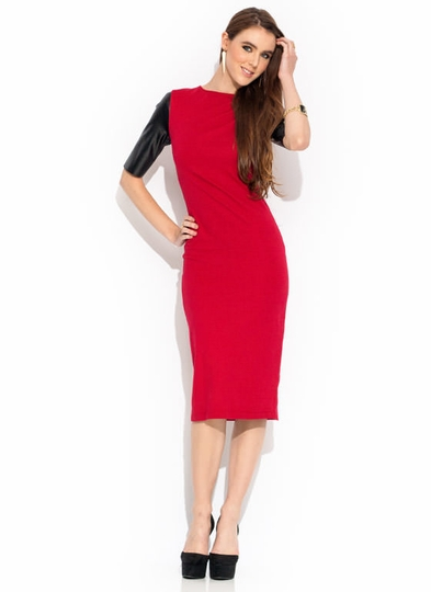 So Slick Contrast Sleeve Dress