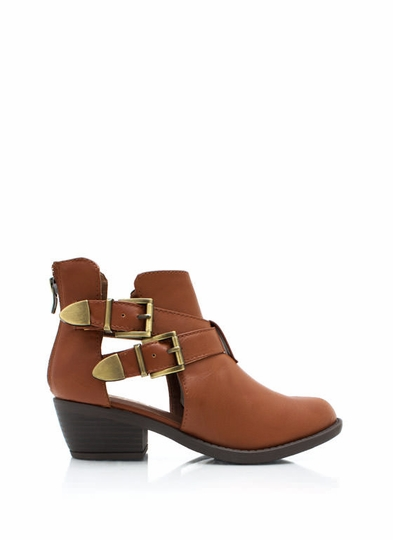 So Strapping Buckled Cut-Out Boots