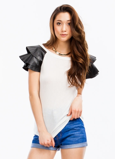 Soft Armor Ruffled Top
