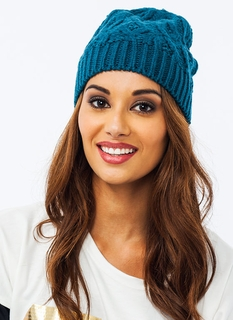 Solid Cable Knit Beanie