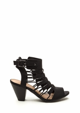 Something New Chunky Caged Heels