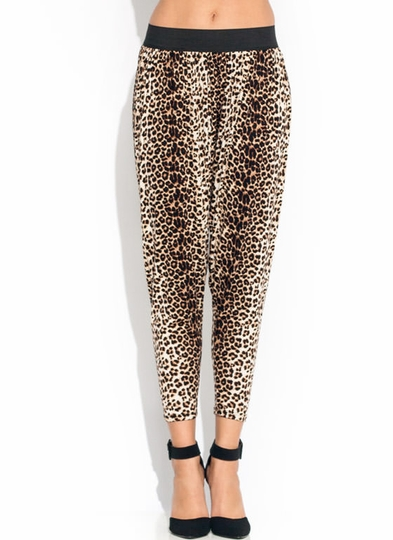 Speckled Leopard Harem Pants