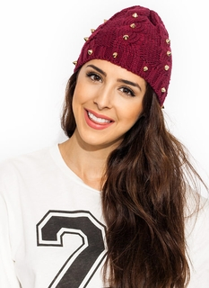Spike Attack Cable Knit Beanie
