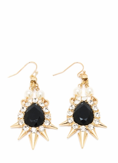 Spike-tacular Faux Jewel Earrings