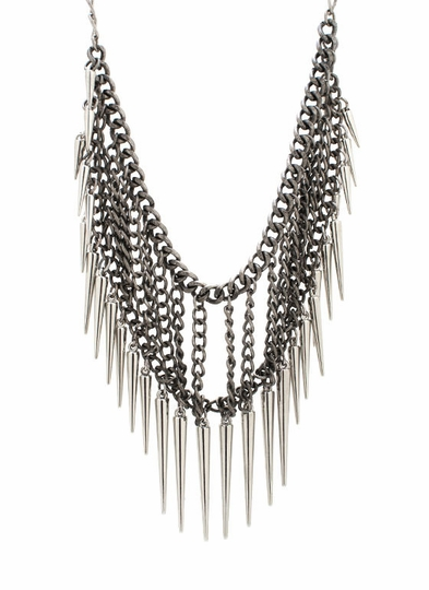 Spiked Chain Cage Necklace