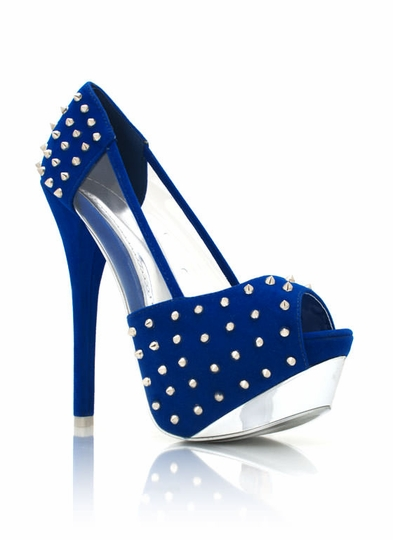 Spiked Peep-Toe Platforms