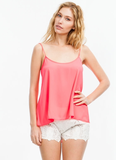 Split Strappy High-Low Tank