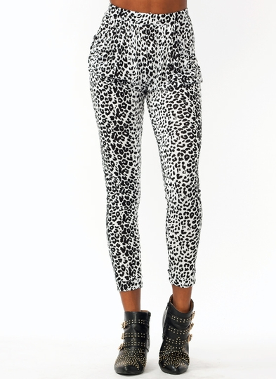 Spot On Leopard Harem Pants