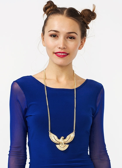 Spread Eagle Oversized Necklace