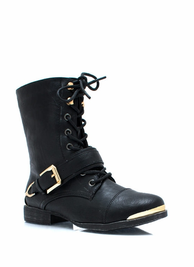 Spur It Up Metal Combat Boots