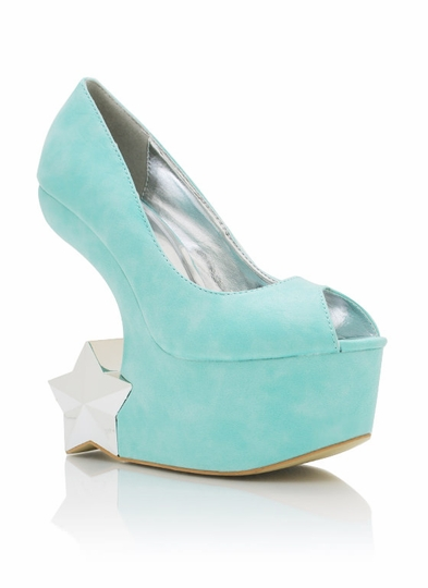 Star Accent Heel-Less Platforms