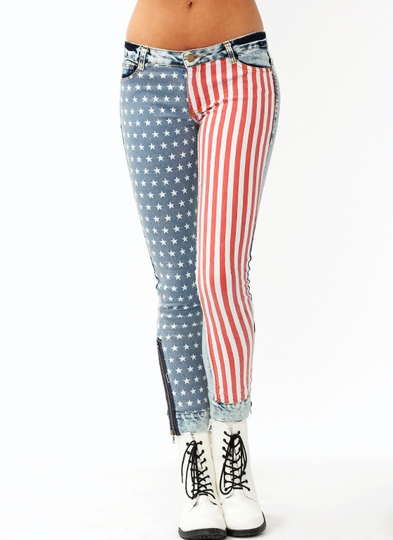 Stars And Stripes Skinny Jeans