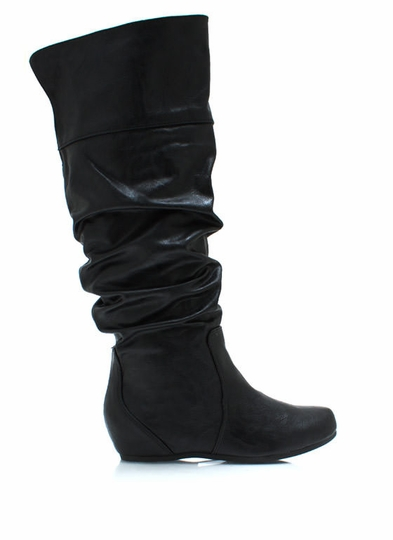 Start Slouching Faux Leather Boots