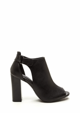 State Of Mind Chunky Cut-Out Booties