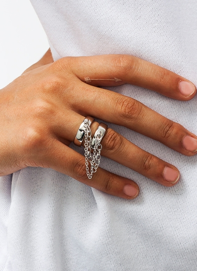 Stay With Me Linked Ring Duo