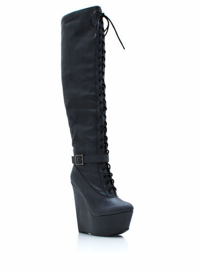 Straight Up Knee High Boots