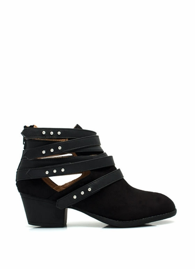 Strap Happy Studded Booties