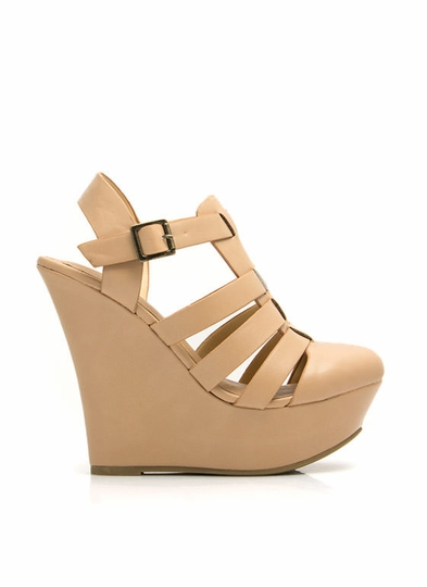 Strap You In Platform Wedges