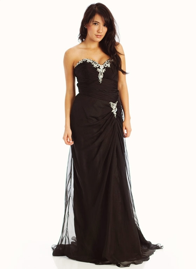 Strapless Embellished Sweetheart Formal