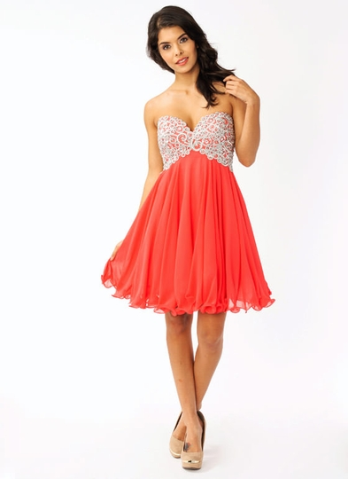 Strapless Embroidered Formal