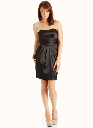 Strapless Pleated Formal