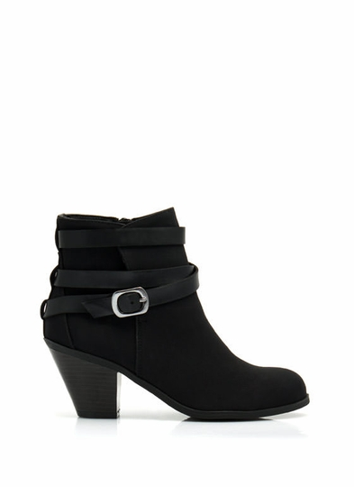 Strapped In Contrast Ankle Boots