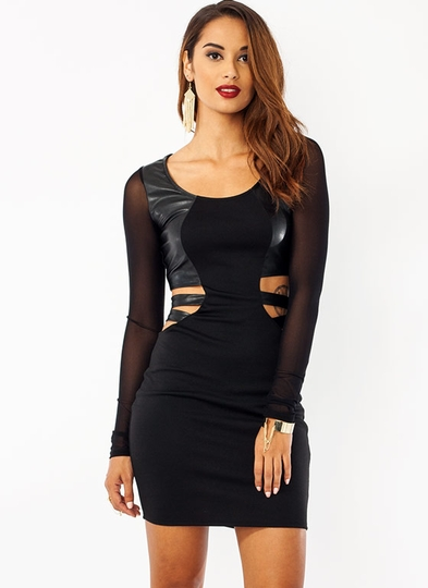 Strapping Cut-Out Dress