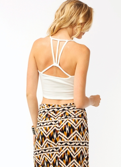 Strappy Back Cropped Top