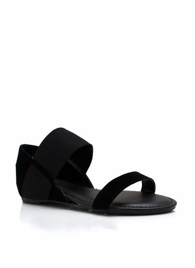 Strappy Low Wedge Sandals