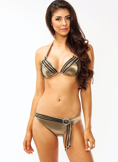 Strappy Metal Accent Bikini Set