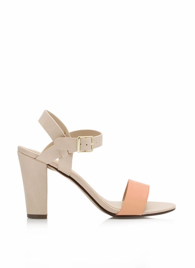 Strappy Single-Sole Chunky Heels