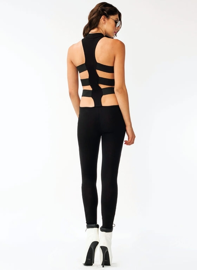 Strappy Zipper Jumpsuit