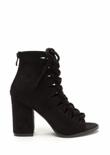 Street Cred Chunky Laced Cut-Out Booties