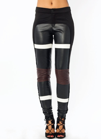 Strip Search Faux Leather Moto Pants