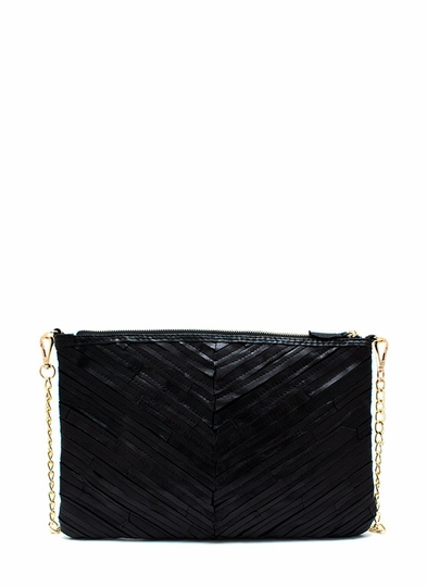 Strip Tease Genuine Leather Clutch