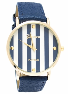 Stripe Gold Boyfriend Watch