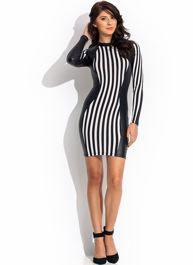 Stripe It Rich Contrast Dress