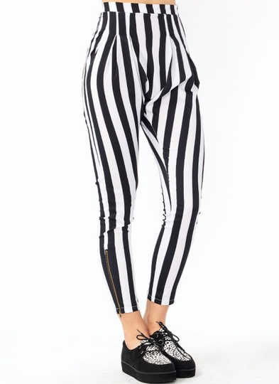 Striped Harem Pants