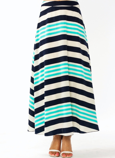 Striped Just Right Maxi Skirt