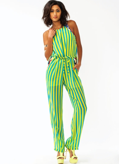 Stripes In A Garden Jumpsuit