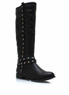 Stud-ly Faux Leather Boots