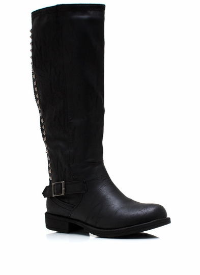 Stud Y Time Riding Boots