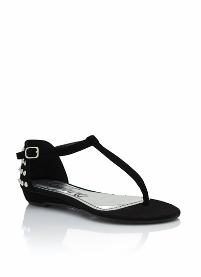 Studded Faux Nubuck Sandals