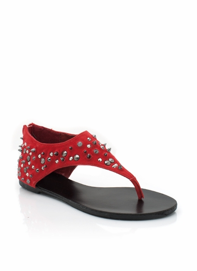 Studded Faux Suede Sandals